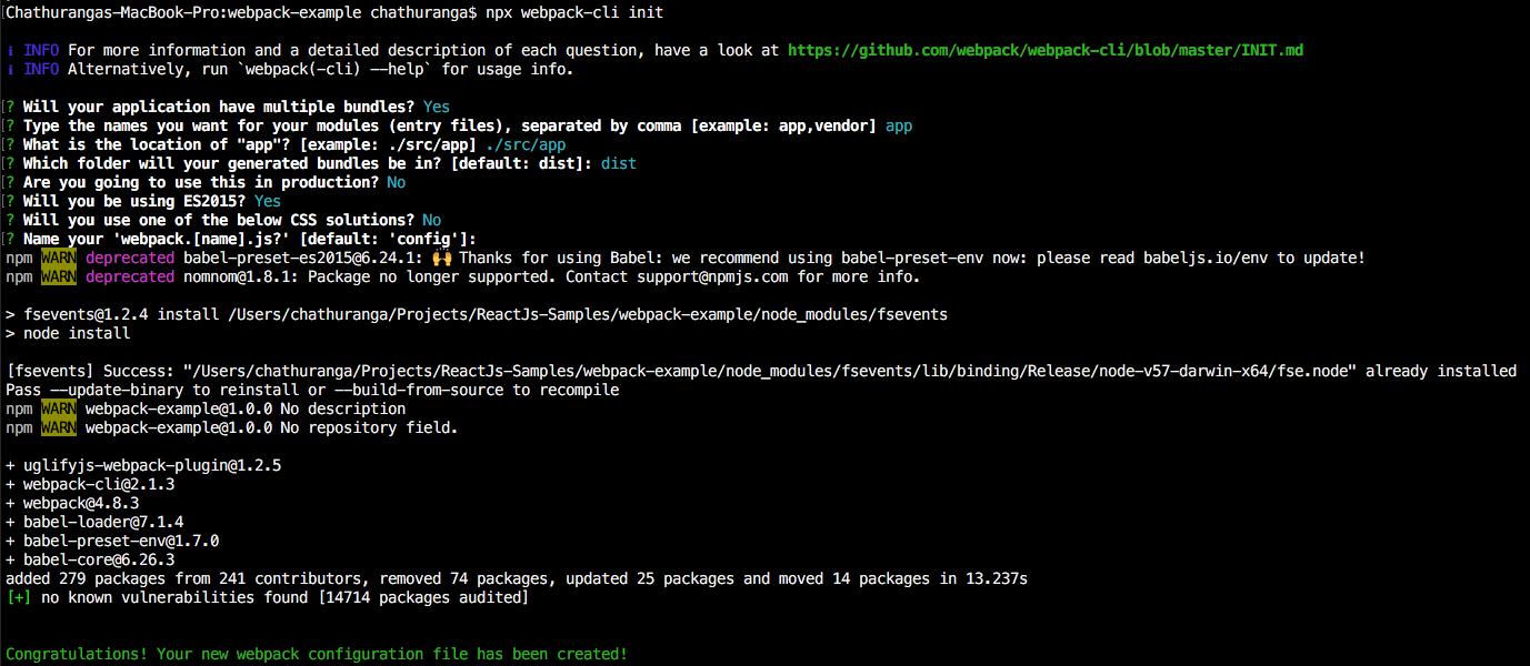 Generate Webpack Cofiguration file (webpack config js) using