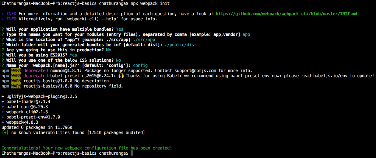 Configure Babel and Webpack for NPM (Node Package Manager